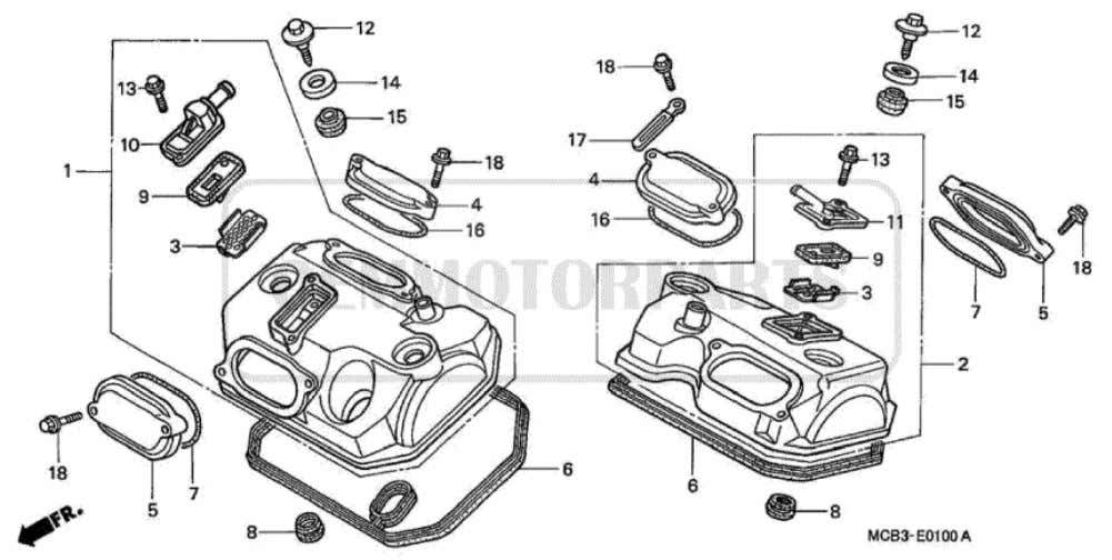 Parts for Honda XL650V Transalp (2001) CYLINDER HEAD COVER           Price Price