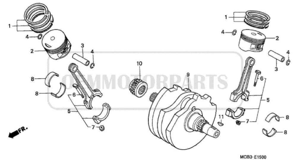 Parts for Honda XL650V Transalp (2001) CRANKSHAFT/PISTON           Price Price Nr.