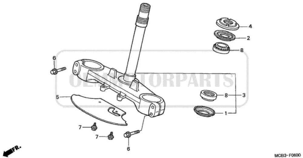 Parts for Honda XL650V Transalp (2001) STEERING STEM           Price Price Nr.