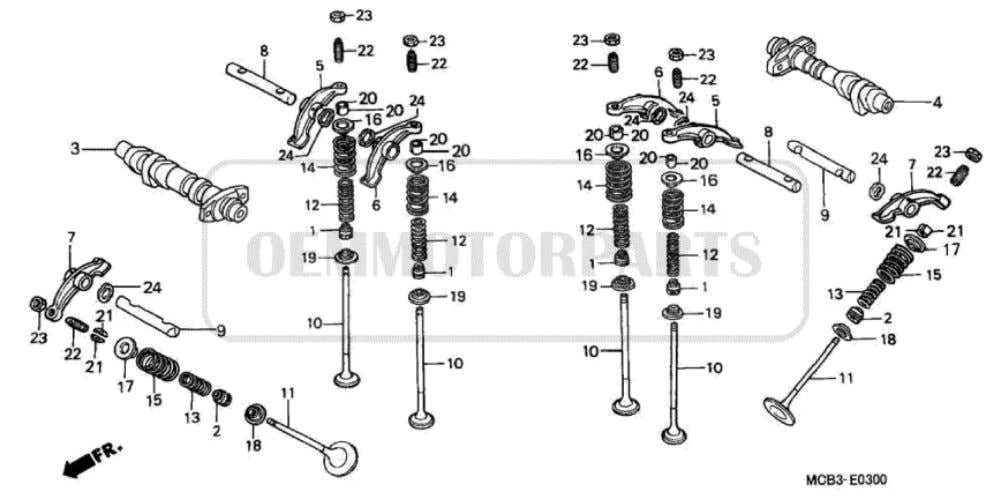 Parts for Honda XL650V Transalp (2001) CAMSHAFT/VALVE           Price Price Nr. Part