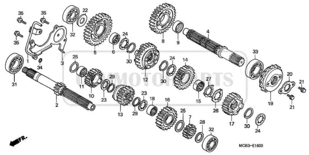 Parts for Honda XL650V Transalp (2001) TRANSMISSION           Price Price Nr. Part