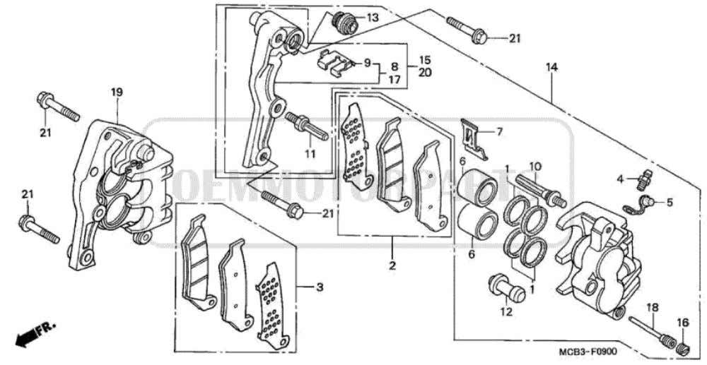 Parts for Honda XL650V Transalp (2001) FRONT BRAKE CALIPER           Price Price