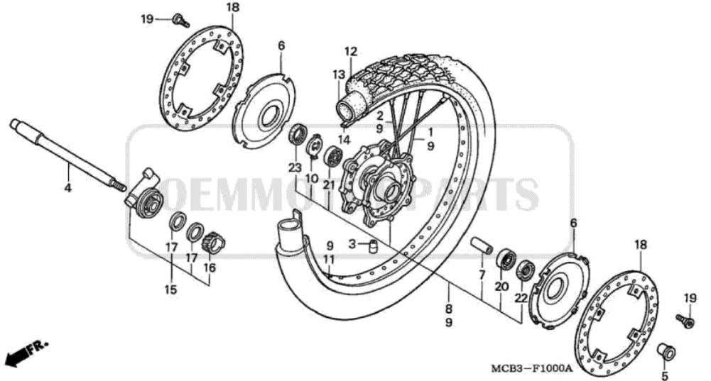 Parts for Honda XL650V Transalp (2001) FRONT WHEEL           Price Price Nr.