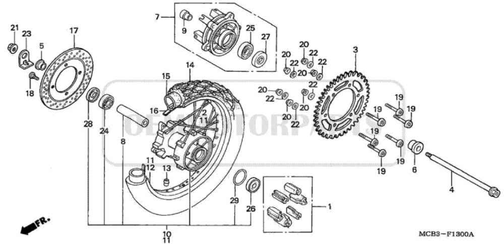 Parts for Honda XL650V Transalp (2001) REAR WHEEL           Price Price Nr.