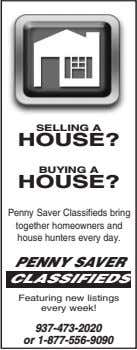 SELLING A HOUSE? BUYING A HOUSE? Penny Saver Classifieds bring together homeowners and house hunters