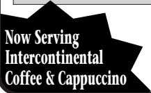 NowServing Intercontinental Coffee&Cappuccino