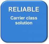 RELIABLE Carrier class solution