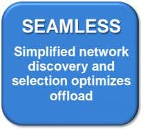 SEAMLESS Simplified network discovery and selection optimizes offload