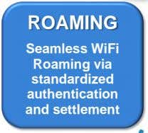 ROAMING Seamless WiFi Roaming via standardized authentication and settlement