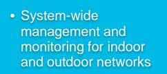 • System-wide management and monitoring for indoor and outdoor networks