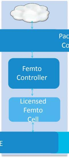 Packet Core Femto Controller Licensed Femto Cell