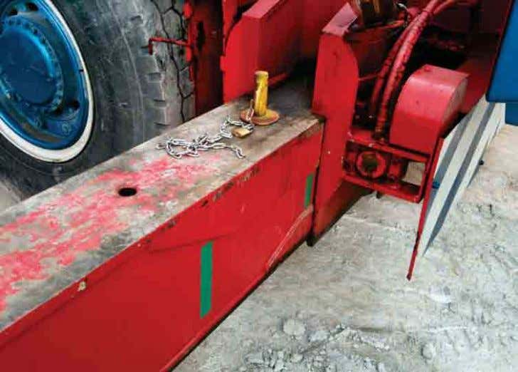 LIFTING OPERATIONS Interlocking device for outriggers • Construction Safety Handbook