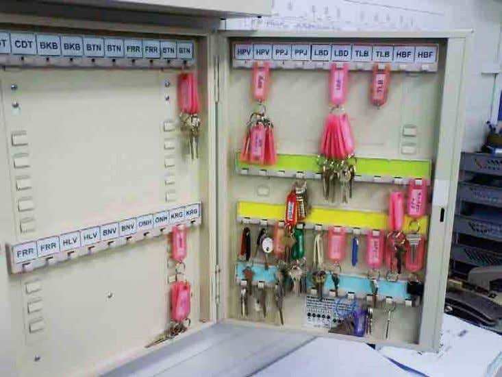 LOCKOUT PROCEDURE Keys to all work areas, padlocks, tags and signs are kept securely by the
