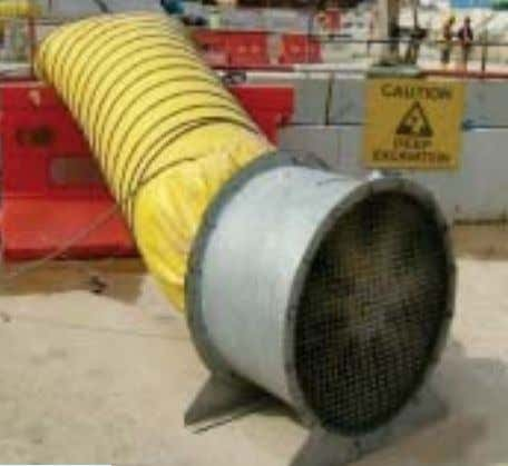 gas or vapour; c) concentration of toxic gas or vapour. Confined space ventilation Source of free