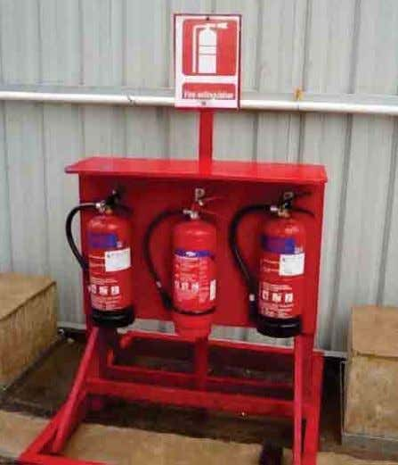 and tested by a competent person at regular intervals. Provision of fire-extinguishers Fire extinguisher was not