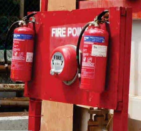 of fire; and d) are clearly audible throughout the factory. Fire Point Electrical Fire Alarm •