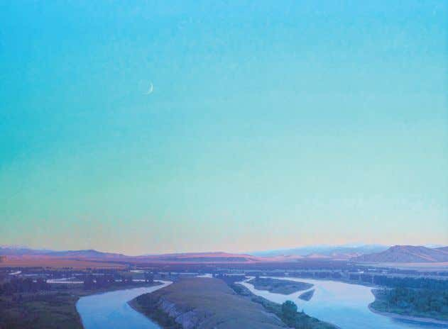 "Confluence, 72""x96"" Canyon Creek Hills, 30""x40"" He was 12 years old the first time he"