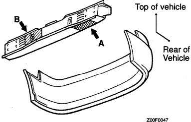 hand side, outer. Right hand side is symmetrically opposite. Front bumper Liftgate 231FOO74 3ear bumper 1