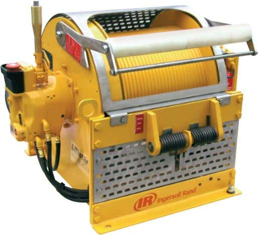 Winch 150 kg (330 lbs) Capacity Model: LS2-150RLP-L-E The LS2-150RLP-L-E pneumatic ManRiding winch is specially