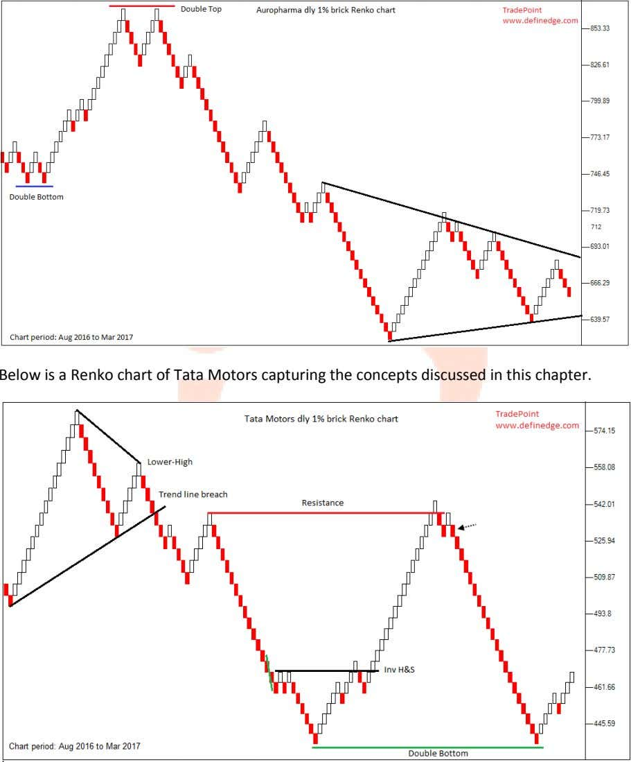 Below is a Renko chart of Tata Motors capturing the concepts discussed in this chapter.