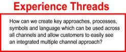 Developing Multiple Channel Brand Experiences Experience Threads We believe that it is extremely important to build