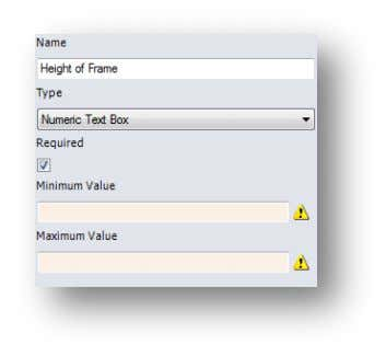 "procedure, naming the input "" Order Number "". Click To specify most dimensions within the model,"