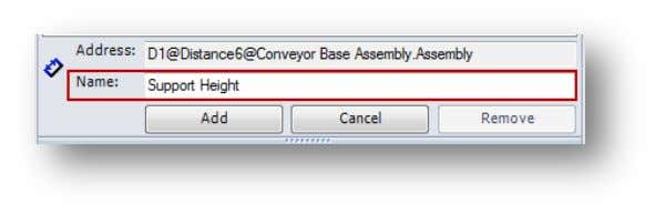 "Select the dimension of ""100"" that appears on the model. In the DriveWorksXpress Task Pane, re"