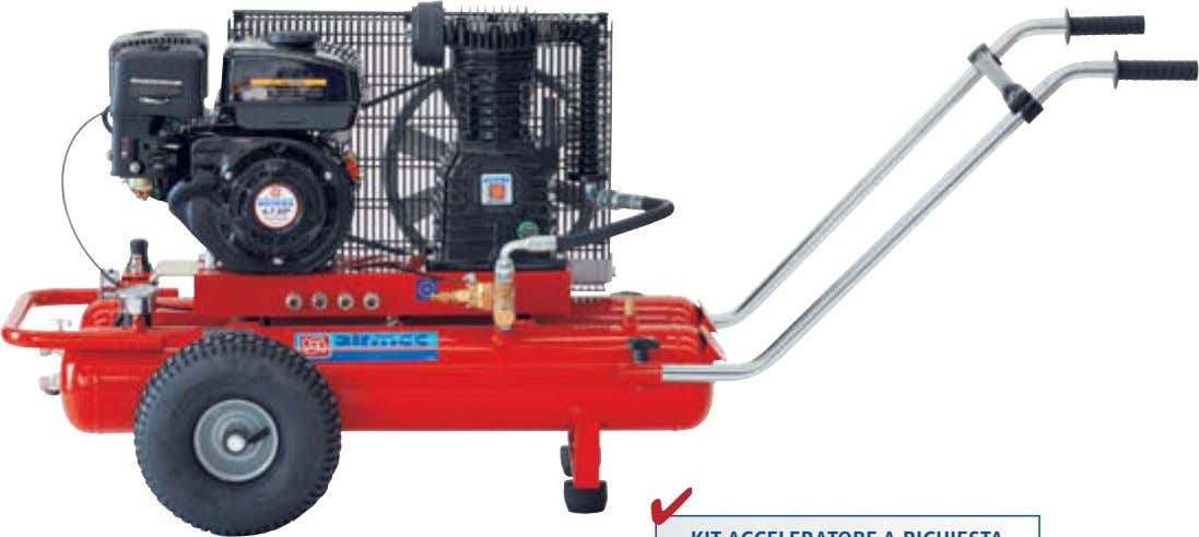 AIR COMPRESSOR TTS 3465 KIT ACCELERATORE A RICHIESTA SELF THROTTLE KIT UNDER REQUEST Type n. n.