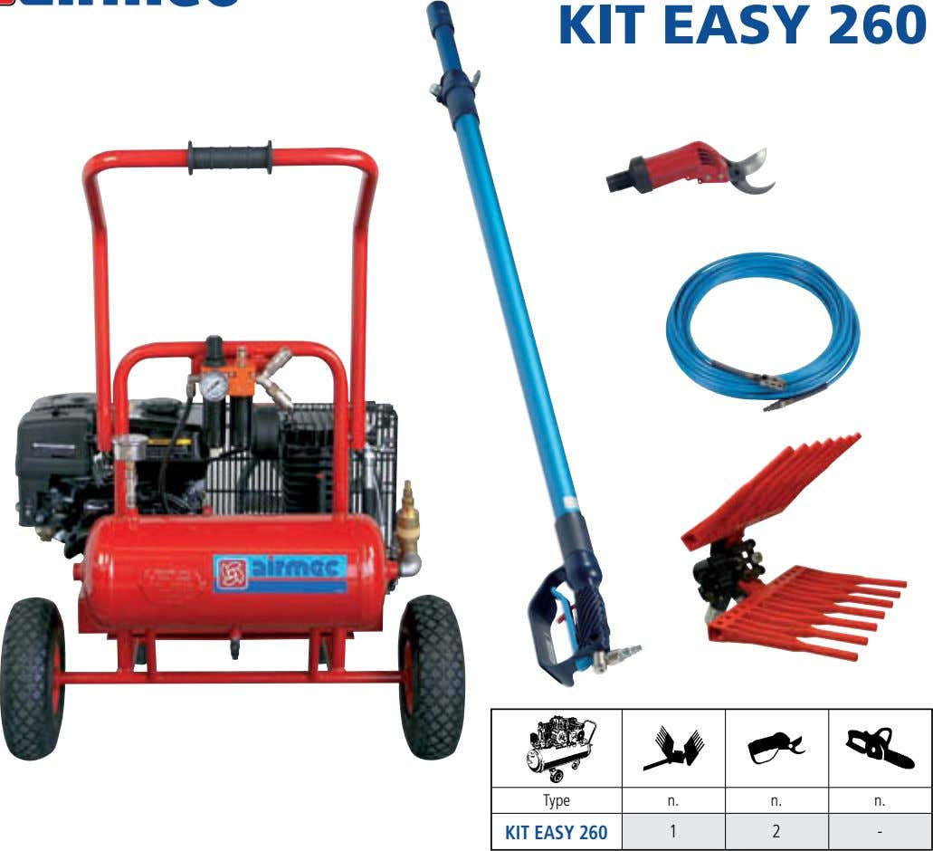 COMPRESSOR KIT EASY 260 Type n. n. n. KIT EASY 260 1 2 -