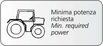 Minima potenza richiesta Min. required power