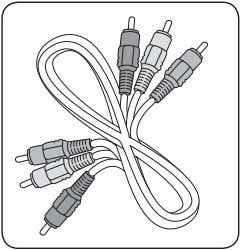 and white Audio L/R connectors at COMPONENT for audio input Component video cable -Red, Green, Blue