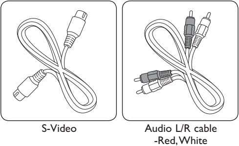S-Video Audio L/R cable -Red,White
