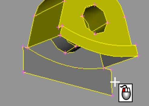 Curve will be projected. Confirm with middle mouse button The Face is now cut in the