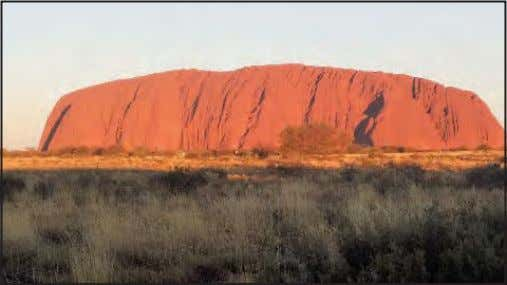 all work for one company, Voyager of Australia. They Ayers Rock at sunset. are in the