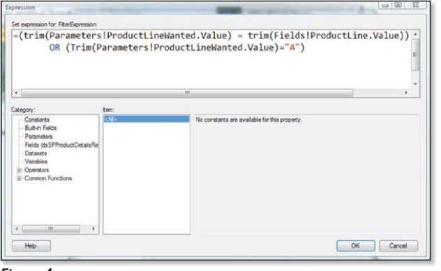 to the targeted Figure 3 Opening an element's properties Figure 4 The Expression editor dialog box
