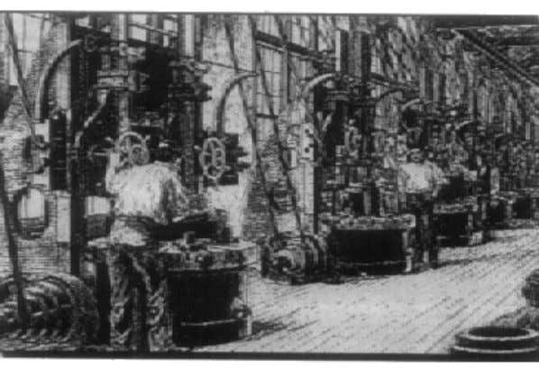 cutters. A machine shop looked like one shown in Fig. 1.4. Fig. 1.4 A machine shop