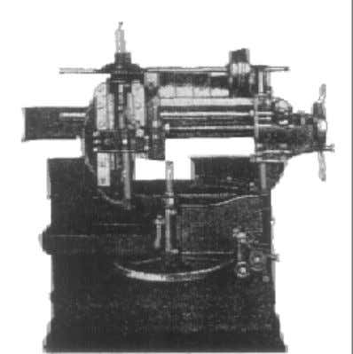 """describing- generating"" method for Pratt & Whitney. Fig.1.6 Fellow's gear shaping machine, 1897 In 1884, Huge"