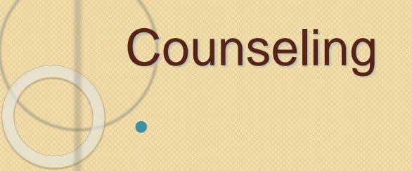 Counseling 