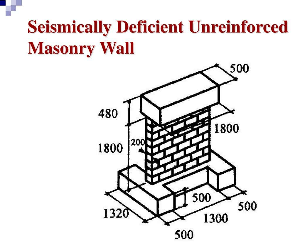 Seismically Deficient Unreinforced Masonry Wall