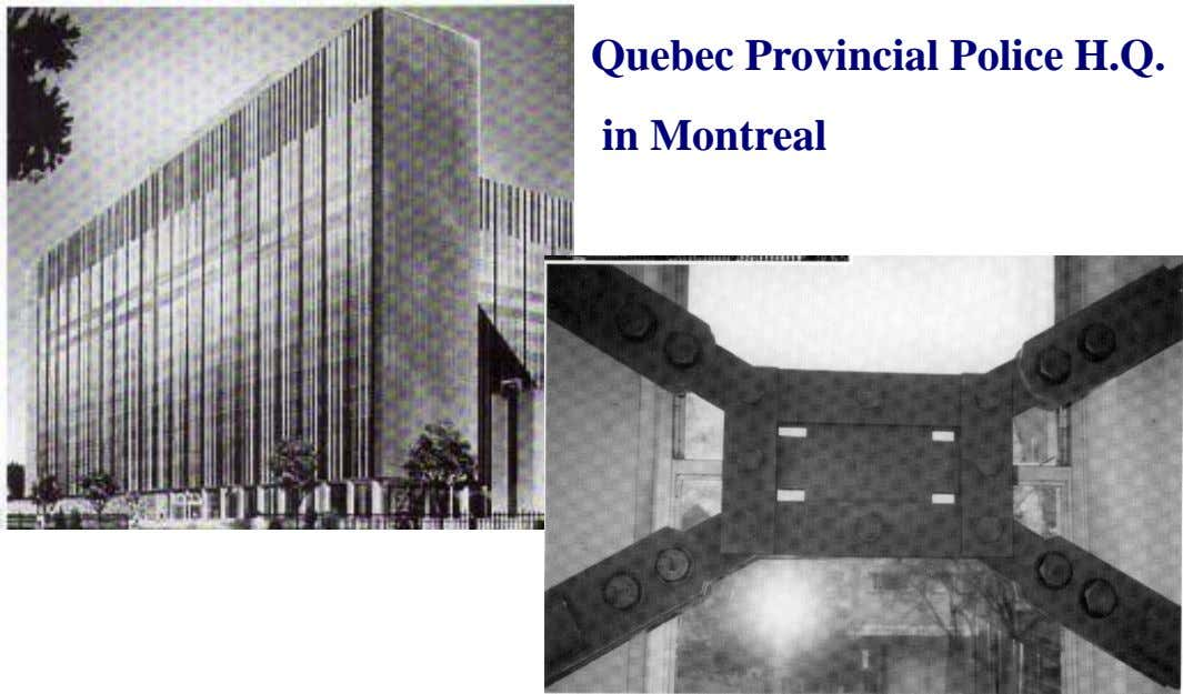 Quebec Provincial Police H.Q. in Montreal
