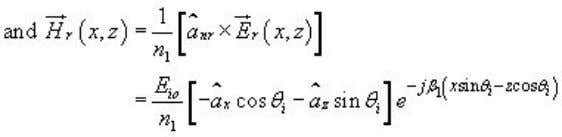 The condition is Snell's law of reflection. (29) The total electric field is given by Similarly,