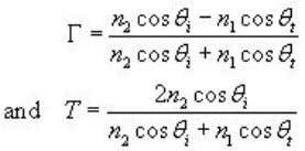 for the perpendicular polarization can be computed as We observe that if = 0 for an