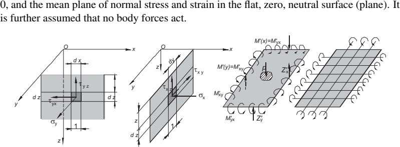 0, and the mean plane of normal stress and strain in the flat, zero, neutral