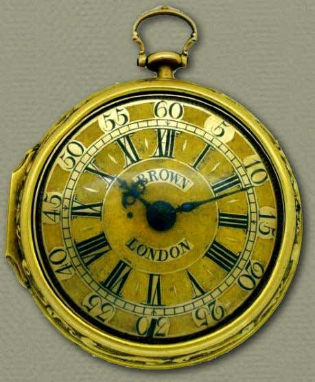 18th Century Material Culture Gold Watches 1700 - 1749
