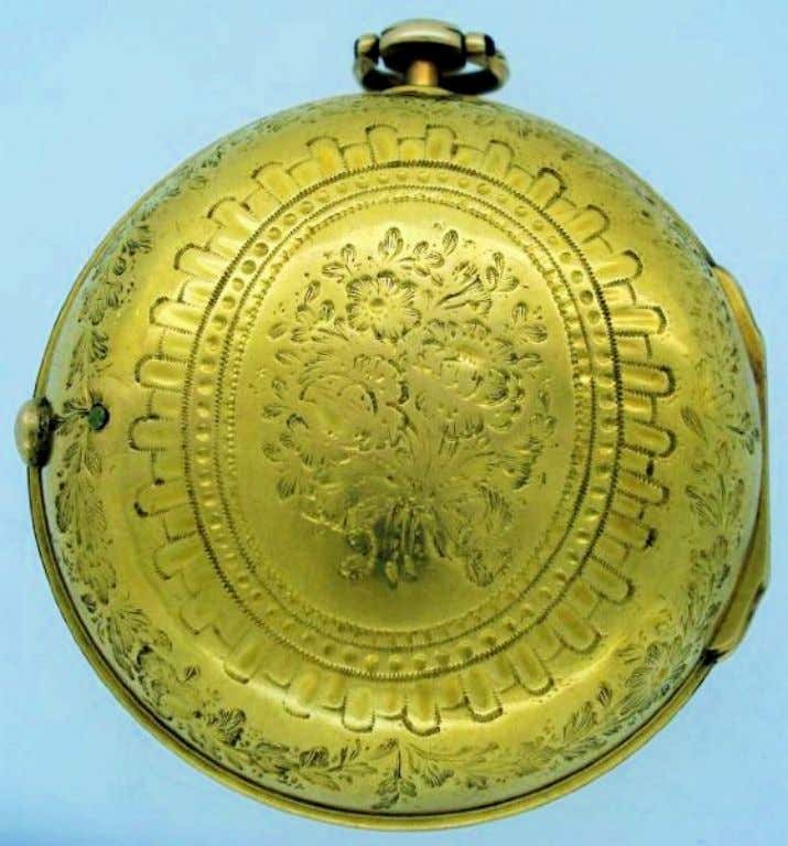 English Gold Pair Cased Watch with Verge Movement by James Blackborrow of London 1739 (Cogs