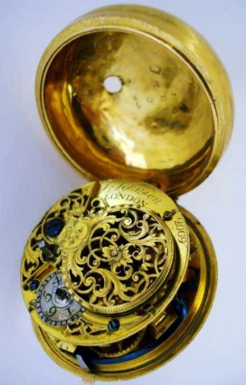 English Gold Repousse Pair Cased Watch with Verge Movement by J. Johnson of London 1744