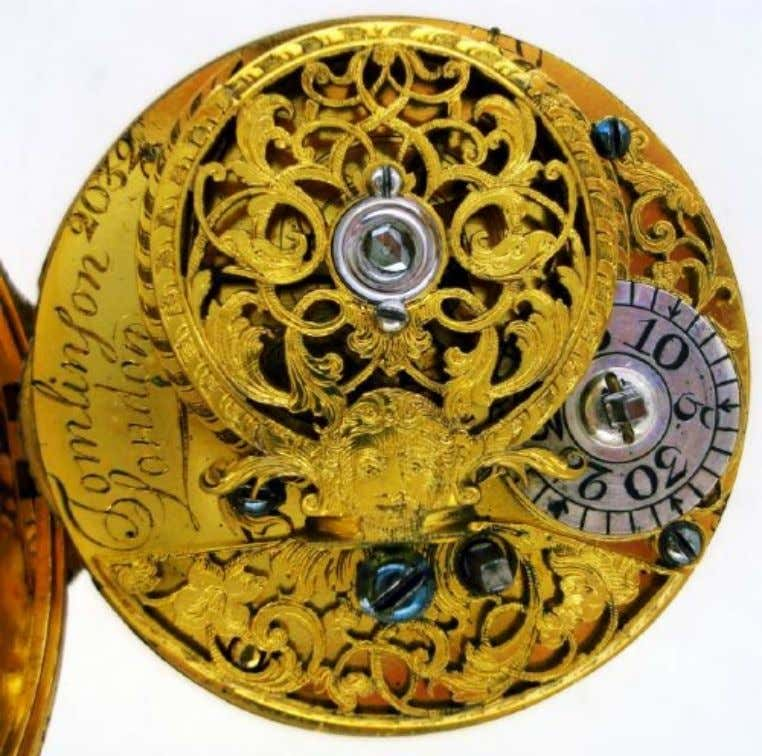 English Gold Repousse Pair Cased Watch with Verge Movement by Tomlinson of London c. 1720