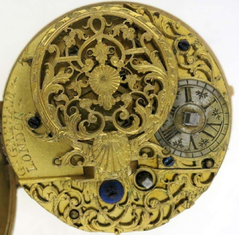English Gold Repousse Pair Cased Watch with Verge Movement by George Graham of London c.