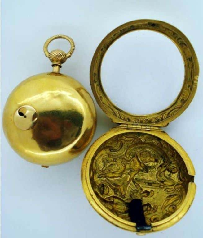 English Gold Repousse Pair Cased Watch with Verge Movement by Robert Markham of London c.