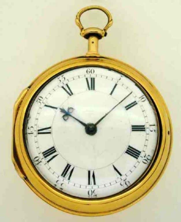 English Gold Pair Cased Watch with Lever Conversion, Quarter Repeat Movement by Thomas Windmills of